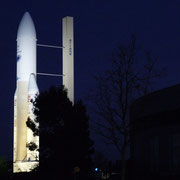 The launcher Ariane on the museum plaza
