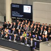 50 Jahre Elysee – Vertrag im Deutschen Bundestag. Gemeinsame Sitzung des Deutschen Bundestages und der Assemblee Nationale.Impressionen aus dem Reichstag während der Ansprache des Staatspräsidenten Frankreichs Francois Hollande, Dt.Bundestag