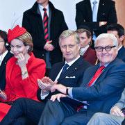 Deutsch-Belgische Konferenz: Außenminister Frank-Walter Steinmeier und  König Philippe und Königin Mathilde von Belgien (v.r.), Europäische Bewegung Deutschland