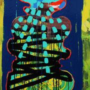 Große Stele, 2012, Acryl, Lack auf Leinwand, 2,3 x 0,9m