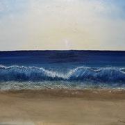 'Wind des Lebens:' Ölfarben und Sand auf Keilrahmen 80 x 60cm gemalt (inkl. Rahmen)  Wert: 350.-