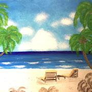 'ankommen und entspannen'  Acrylgemälde