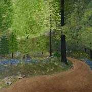 """""""Waldspaziergang auf dem Lebensweg"""" Ölgemälde"""