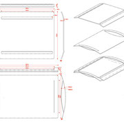 INS-TABLE multy functional tray tecnical drawings