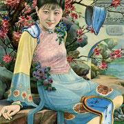 Salvador Dali, Portrait de Li Xiao-Tu aux montres molles, gouache sur papier de riz, 24 x 14 cm, 1932, localisation inconnue.