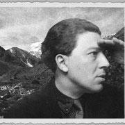 André Breton à la frontière sino-tibétaine, photographie de Raymond Tchang.