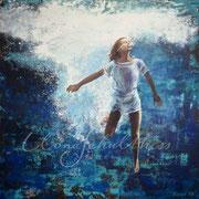Oceans Deep 2017, 100 x 100 cm