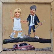 Hochzeitskarte, Sybille und Mario, 2010