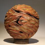 """Terre de feu"" frêne - 35 cm - 2008"