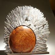 """"""" soleil d'orme"""" loupe d'orme - h 50 cm - 2008"""