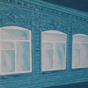 Samara blau, Acryl auf Leinwand 50x70cm - 350,-€
