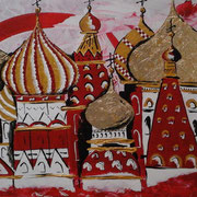 Roter Platz, Acryl auf Leinwand 60x80cm - 600,-€