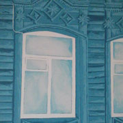 Samara blau 2, Acryl auf Leinwand 50x70cm - 350,-€