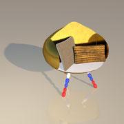 "3D Entwurf ""Basilika"" Sessel"