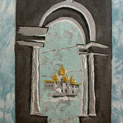 Schneeweiss - Acryl auf Leinwand 30x50cm (verkauft)