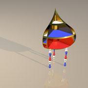 "3D Entwurf ""Basilika"" Eckschreibtisch"