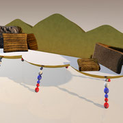 "3D Entwurf ""Basilika"" Sofa"