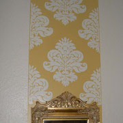 """""""Vintage"""" Wandgestaltung Wohnzimmer"""