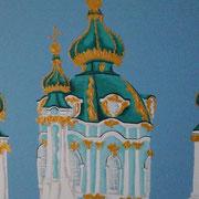 Basilika Kiew 2, Acryl auf Leinwand 50x70cm - 350,-€