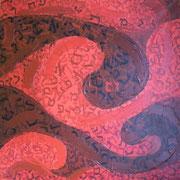 Blut (zehn Plagen), Acryl auf Leinwand 100x100cm