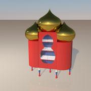"3D Entwurf ""Basilika"" Schrank"