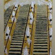Treppski - Acryl auf Leinwand 50x70cm - 400,-€