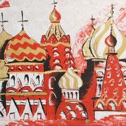 Rote Kirche, Acryl auf Leinwand 60x70cm (unverkäuflich)