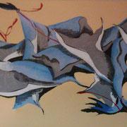 Stockfisch, Acryl auf Leinwand 50x100cm (verkauft)