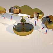 "3D Entwurf ""Basilika"" Wohnlandschaft"