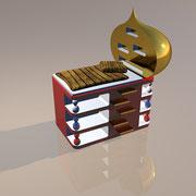 "3D Entwurf ""Basilika"" Hochbett"