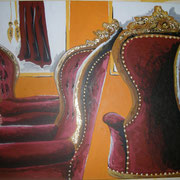 Chairs, Acryl auf Leinwand 70x100cm (verkauft)