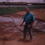 Janvier 1990, la pelouse vient d'être semée