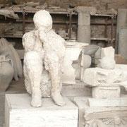 Corps fossilisé de Pompéi