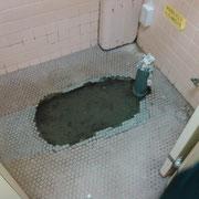 和式トイレ解体後 配管