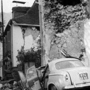 La rue Escamet suite au séisme du 13 août 1967 - © Mairie d'Arette
