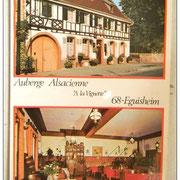"""Le restaurant s'appelait """"La vignette"""". Ceci en rapport avec la vigne"""