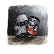 La monstrueuse histoire d'un petit garçon moche et d'une petite fille vraiment très laide