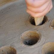 Arqueología experimental. Construcción de la parrilla de un Horno Castromao