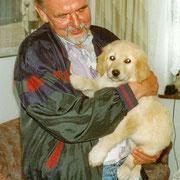 Eric mit seinem neuen Herrchen Rolf Hänsel