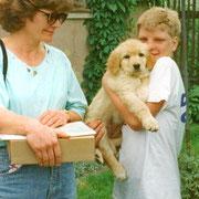 Ella mit ihrer neuen Familie Ullmann aus Elterlein im Erzgebirge