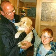 Eddy mit seiner neuen Familie. Auch er wurde später ein Deckrüde