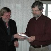 Lothar Marg für 40 Jahre GEW