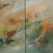 Doppelbild Ohne Titel   Acryl auf Leinwand 60 x 80  CHF 500