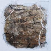 Natur III  Acryl mit Papier-Reisstechnik  40 x 40 CHF 180