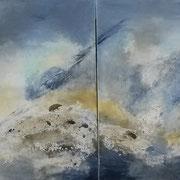Doppelbild   Ohne Titel Acryl auf Leinwand 2x 80x100  zus. CHF 1300