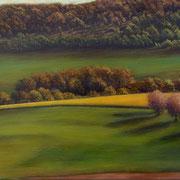 printemps 88 - acrylique sur bois - 42x60 cm - 2002 - M.Pavlïn