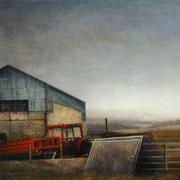 cours de ferme - acrylique sur bois- 40x61 cm - 2011 - M.Pavlïn