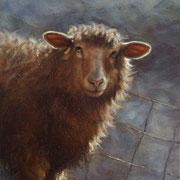 agnus - acrylique sur bois - 26x24,5 cm - 2006 - M.Pavlïn