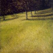 Champs - acrylique sur bois - 45x32 cm - 2003 - M.Pavlïn