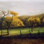 arrière saison - acrylique sur bois - 31x40 cm - 2003 - M .Pavlïn
